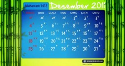 KalenderMuharram 1433 H - Desember 2011 M