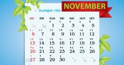 Wallpaper Kalender Cantik November 2011 - Dzulhijjah 1432 H
