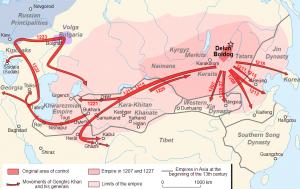 Peta ekspansi Mongol 300x189 Sejarah Islam   Invasi Pasukan Mongol ke Kerajaan Islam (Bagian 1)