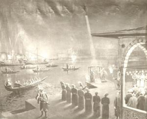 Laragi meluncur dengan roketnya tahun 1633