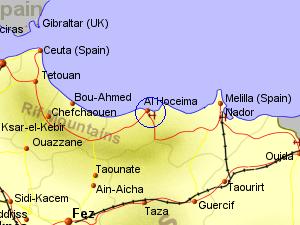 Posisi Kota Al-Hoceima yang penting dalam penaklukkan Maroko