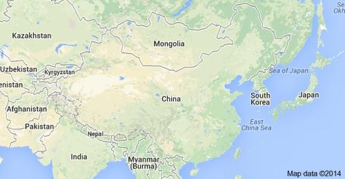 Peta Cina dan wilayah sekitarnya