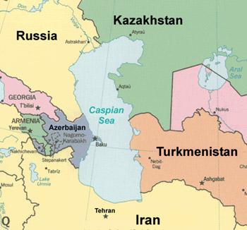 Negara-negara di sekitar Laut Kaspia