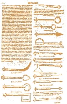 Salah satu halaman buku at-Tashrif yang telah diterjemahkan ke dalam bahasa latin.