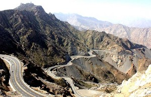 Bukit-bukit di wilayah Thaif, Arab Saudi