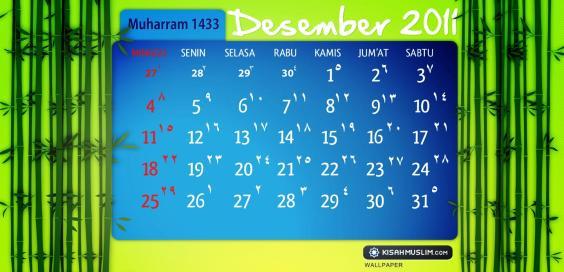 KalenderMuharram 1433 H - Desember 2011 M