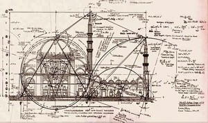 Perhitungan geometri yang dilakukan Mimar Sinan saat membangun Masjid Pangeran