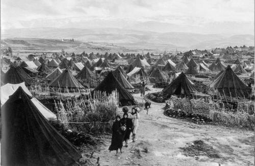 Kamp pengungsi dampak dari Nakba 1948.