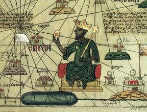 Gambaran Mansa Musa dari atlas Eropa