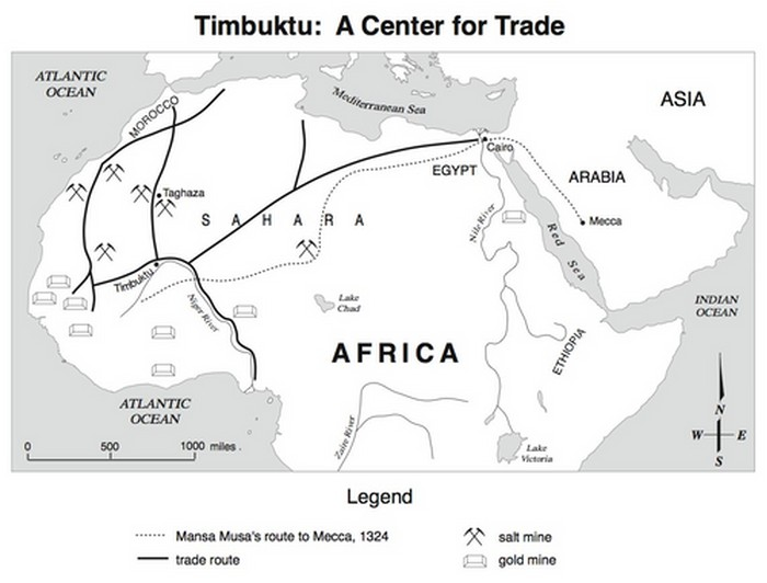 Rute perdagangan di Afrika